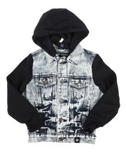 Boys - Hooded Denim Jacket (4-7)-2261352