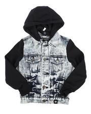 Outerwear - Hooded Denim Jacket (4-7)-2261352