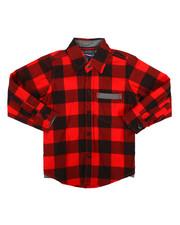 Tops - Long Sleeve Woven Shirt (2T-4T)-2261338