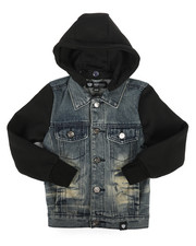 Denim Jackets - Hooded Denim Jacket (4-7)-2261363