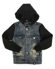 Outerwear - Hooded Denim Jacket (4-7)-2261363