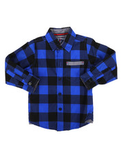 Tops - Long Sleeve Woven Shirt (2T-4T)-2261324
