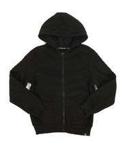 SWITCH - Quilted Fleece Full Zip Hoodie (8-20)-2259392