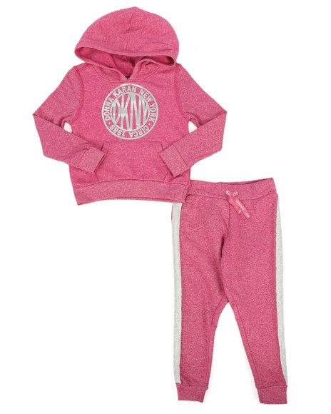 DKNY Jeans - 2 Piece Medallion Hoodie & Sweatpants Set (2T-4T)