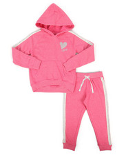 Girls - 2 Piece DKNY Hoodie & Sweatpants Set (4-6X)-2263232