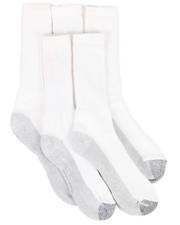 DRJ SOCK SHOP - 6 Pack Dri-Tech Crew Socks-2262067