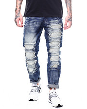 Jeans & Pants - RIPPED JEAN WITH RIPPLE PATCH-2264501