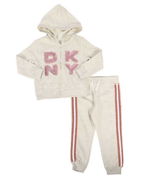 DKNY Jeans - 2 Piece Hoodie & Jogger Set (2T-4T)