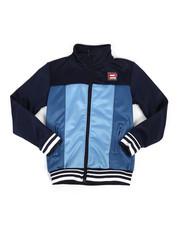 Track Jackets - Color Block Nylon Track Jacket (8-20)-2264749