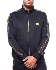 Track Jackets - Diamond Pattern Tape Track Jacket-2265647