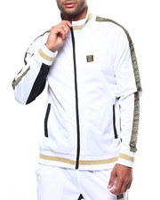 Track Jackets - GREEK KEY WARM UP JACKET-2265919