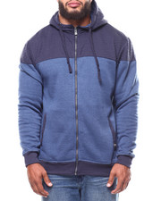 Buyers Picks - 2-Tone Quilted Fleece Hoodie (B&T)-2265198