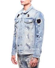 Denim Jackets - Distressed Crystal Denim Jacket-2266324