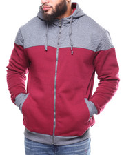 Men - 2-Tone Quilted Fleece Hoodie (B&T)-2266417