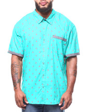 Big & Tall - Flamingo All-Over Print S/S Woven Shirt (B&T)-2265173
