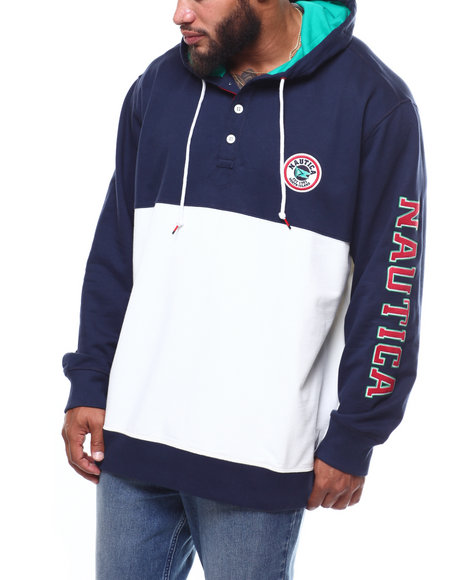Nautica - Popover Embroidered French Terry Hoodie (B&T)