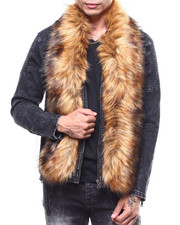 Denim Jackets - Detachable Faux Fur Denim Zip Jacket-2266330