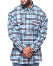 Men - L/S 2 Pocket Cross Dye Poplin Shirt (B&T)-2266109