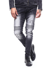 Jeans - Quilted Knee Moto Jean-2266138