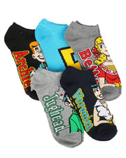 Accessories - 5 Pack Archie No Show Socks-2266057