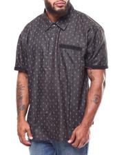 Big & Tall - Anchor All-Over Print S/S Chambray Shirt (B&T)-2265153