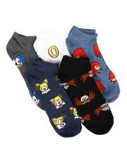Accessories - 5 Pack Sonic The Hedgehog No Show Socks-2266060