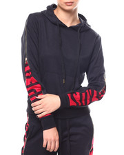 Fashion Lab - Super Zipper Accent Hoodie-2266746