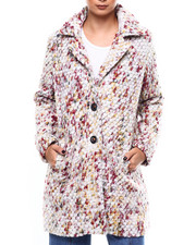 Womens-Winter - Single Breasted Confetti Wool Coat-2266444