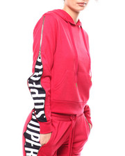 Fashion Lab - Super Zipper Accent Hoodie-2266728
