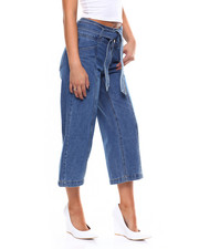Wide-leg - Denim Belted Hi Rise Wide Leg Pant-2266667