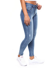 Skinny - 5 Pocket Distressed Skinny Jean-2260193