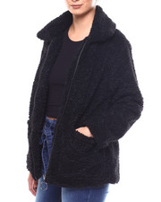 Womens-Winter - Sherpa Zip Front Jacket-2266439