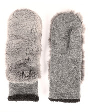Women - Faux Fur Knit Gloves-2266576