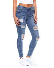 Almost Famous - Destructed Hi Waist Jean-2266449