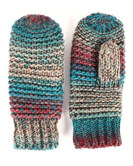 Fashion Lab - Ombre Knit Lurex Mittens