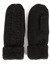 Fashion Lab - Cable Knit Mittens-2266580