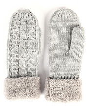 Fashion Lab - Cable Knit Mittens-2266579