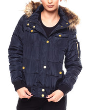 Womens-Winter - Bomber Jacket/Faux Fur Tri Hood-2266467