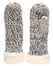 Fashion Lab - Two Tone Thick Yarn Mittens-2266581