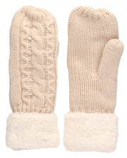 Fashion Lab - Cable Knit Mittens-2266578