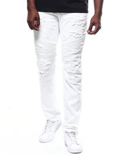 Jeans - OAKLAND STRETCH DISTRESSED MOTO JEAN BY PREME-2266850