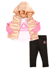 Sets - 3 Piece Sporty Girl Puffer Vest Set (Infant)-2265866