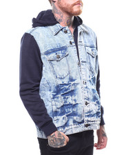 Denim Jackets - DENIN JACKET W FLEECE SLEEVES-2268436