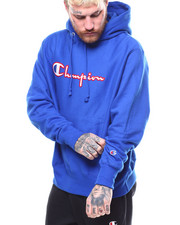 Hoodies - REVERSE WEAVE PULLOVER HOODIE FELT & EMBROIDERY STITCH-2268513