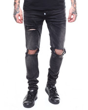 Jeans - DESTROYED KNEE STRETCH JAN W ANKLE ZIP DETAIL-2267797