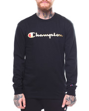 Shirts - CHAMPION USA GOLD FOIL L/S TEE-2268280