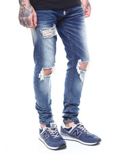 Jeans - DESTROYED KNEE STRETCH JAN W ANKLE ZIP DETAIL-2267768