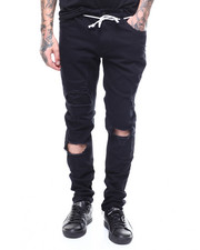 Men - DISTRESSED STRETCH CHINO W ANKLE ZIP DETAIL-2268387