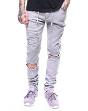 Jeans - DISTRESSED STRETCH CHINO W ANKLE ZIP DETAIL-2268403