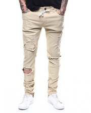 Jeans - DISTRESSED STRETCH CHINO W ANKLE ZIP DETAIL-2268424